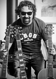 3 Guitars Black and White